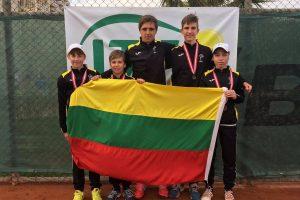Lietuvos tenisininkai triumfavo Rytų Europos keturiolikmečių čempionate