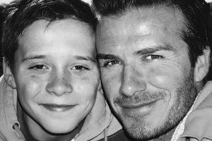 """D. ir V. Beckhamai pasveikino savo """"kūdikį Brooklyną"""""""