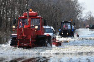 Potvynis kelyje į Rusnę: skelbiama ekstremali situacija