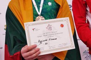 Mirė geriausias Lietuvos taekvondo kovotojas – 19-metis A. Klemas