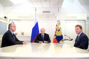 V. Putinas atidarė dujotiekį į Krymą