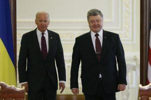 Kijeve viešintis JAV viceprezidentas demonstruoja palaikymą Ukrainai