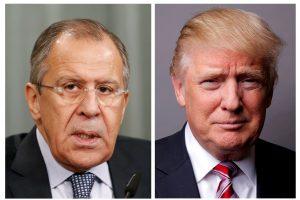 Baltieji rūmai įtūžo Kremliui paskelbus D. Trumpo ir S. Lavrovo nuotraukas