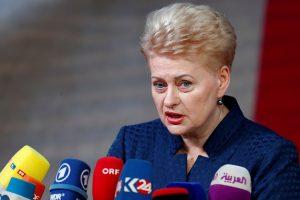 """D. Grybauskaitė prisijungė prie """"Reporterių be sienų"""" iniciatyvos"""