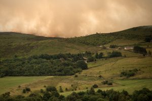 Šiaurės Anglijoje siaučia didžiulis miško gaisras