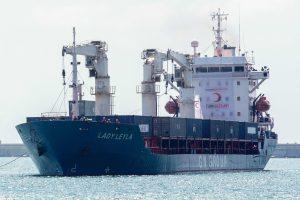 Turkijos laivas atgabeno pagalbos Gazos Ruožui krovinį