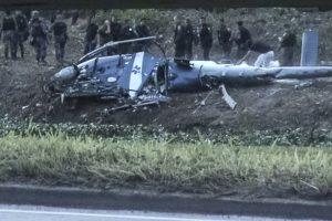 Brazilijoje per susišaudymą nukritus sraigtasparniui žuvo keturi policininkai