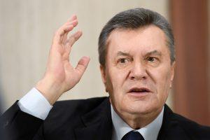 Ukrainoje pradėta nagrinėti V. Janukovyčiaus byla