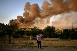 Portugalija vėl grumiasi su miškų gaisrais
