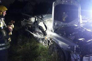 Avarija Vilniaus rajone: vairuotojas pabėgo, palikęs tris sužeistuosius