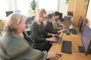 Mokytojai tobulino skaitmenines kompetencijas