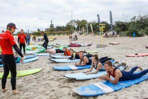 Prie šiaurinio molo – vandens sporto pamokos ir linksmybės