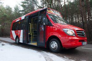 Šventinė vežėjų dovana kauniečiams – nauji mažieji autobusai