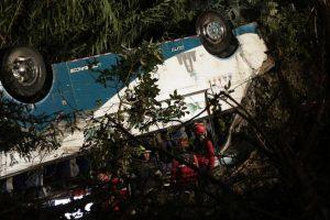 Ekvadore per autobuso avariją žuvo 11 žmonių