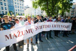 Prie Vilniaus savivaldybės – tautinių mažumų protestas