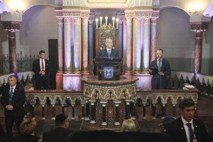 B. Netanyahu džiaugėsi draugyste tarp dviejų mažų demokratijų