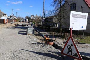 Įsibėgėjo K. Aglinsko gatvės rekonstrukcija Garliavoje