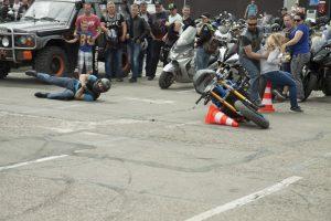 Incidentas baikerių šventėje: nevaldomas motociklas riedėjo į minią