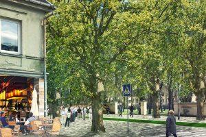 Patvirtinta: karo ligoninės kiemas virs gražiu Kauno parku