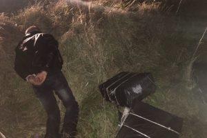 Adutiškio pasieniečiams įkliuvo sienos pažeidėjas ir kontrabandinis krovinys