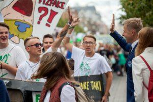 Sostinės meras Rugsėjo 1-ąją kvietė jaunimą savo idėjas įgyvendinti Vilniuje