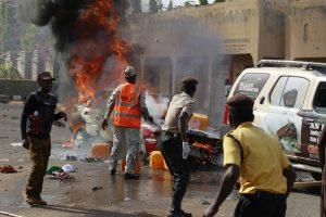 Nigerijos stadione, kuriame lankėsi prezidentas, įvyko sprogimas
