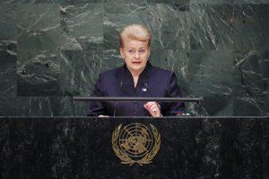 Lietuva prisijungė prie D. Trumpo iniciatyvos reformuoti Jungtines Tautas