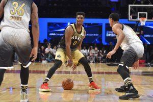 """NBA lygos """"Kylančių žvaigždžių"""" rungtynėse savo pranašumą įrodė JAV rinktinė"""