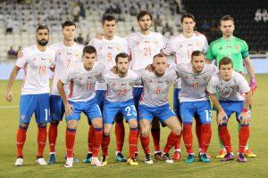 Rusija per pridėtą rungtynių laiką patiesė Rumunijos futbolininkus
