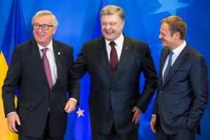 Užsitikrinęs ES vadovų pažadus dėl vizų, Ukrainos lyderis tiki D. Trumpo parama