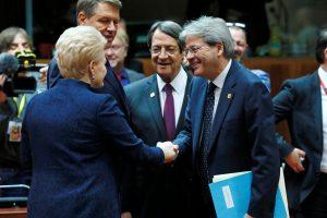 ES vadovai rado kompromisą dėl ES-Ukrainos sutarties