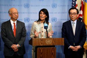 Diplomatė: JAV kalbėtųsi su Šiaurės Korėja, jeigu ji nutrauktų branduolinius bandymus