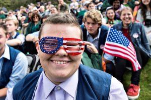 JAV Nepriklausomybės diena: pompastika, spindesys ir dešrainių valgymo konkursas