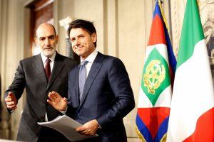 G. Conte suteiktas naujas mandatas formuoti Italijos vyriausybę
