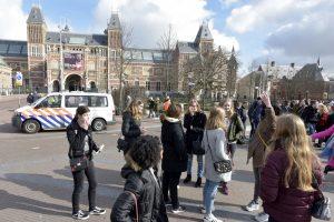 Amsterdamo centre dingo elektra, uždaryti muziejai ir nevažiuoja tramvajai