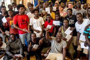 """Prancūzijoje 40 migrantų iš laivo """"Aquarius"""" suteiktas pabėgėlių statusas"""