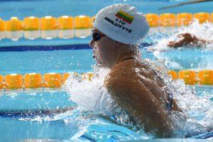 Lietuvos plaukimo rinktinė Europos čempionato medalių lentelėje užėmė 12-ąją vietą