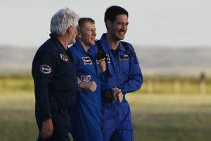 Iš TKS sugrįžęs britų astronautas džiaugiasi žemiškais malonumais