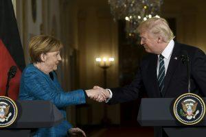 D. Trumpas ir A. Merkel ne itin sėkmingai mėgino peržengti nesutarimus