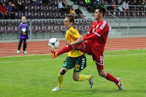 Lietuvos futbolo U-21 rinktinei paskutinių rungtynių finiše išsprūdo pergalė