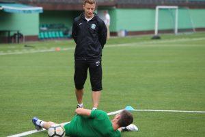 """Vilniaus """"Žalgirio"""" atletinio rengimo treneris M. Čeliauskas: esame geros formos"""