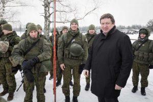 R. Karoblis susitiko su į JT operaciją Malyje išvykstančiais Lietuvos kariais