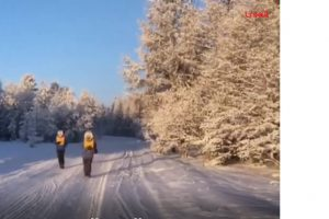 Rusijoje įvyko arktinis maratonas