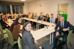 Sostinės meras užsienyje studijavusį jaunimą kviečia kurti ir dirbti Vilniui