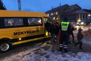 Kauno rajone tikrinti mokykliniai autobusai