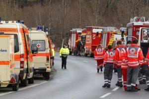 Vokietijoje tilto griūtis mirtinai sužalojo žmogų