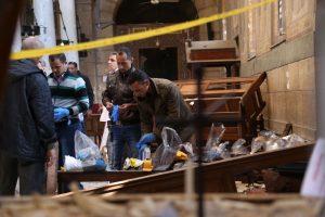 Per sprogimą koptų katedroje Kaire žuvo 25 žmonės