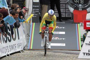 Pasaulio dviračių plento čempionate – solidus I. Konovalovo pasirodymas