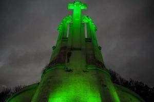 Šv. Patriko dieną Vilnius nušvito žaliai