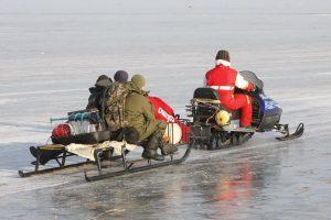 Žūklės malonumai – ant Kuršių marių ledo
